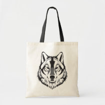 Illustrated Wolf Tote Bag