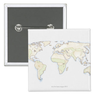 Illustrated World Map 2 Button