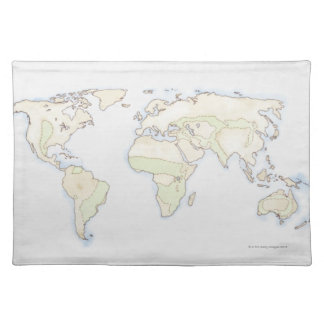 Illustrated World Map 2 Placemat