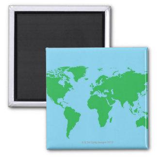 Illustrated World Map Magnet