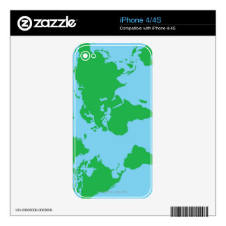 Illustrated World Map Skins For The iPhone 4S
