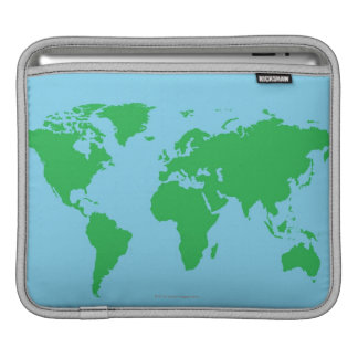 Illustrated World Map Sleeve For iPads