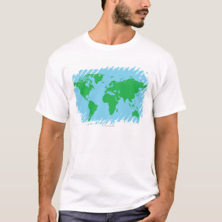 Illustrated World Map T-Shirt