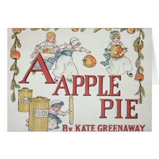 Illustration 'A' from 'Apple Pie Alphabet' Card