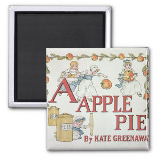 Illustration 'A' from 'Apple Pie Alphabet' 2 Inch Square Magnet