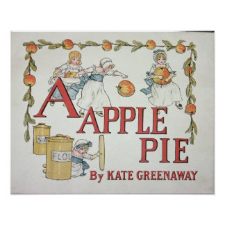 Illustration A from Apple Pie Alphabet Print