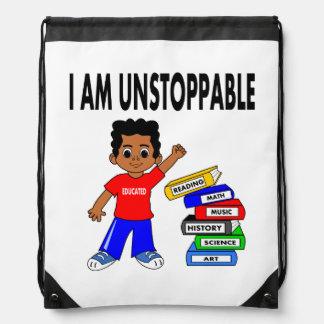 Illustration African American Schoolboy Backpack