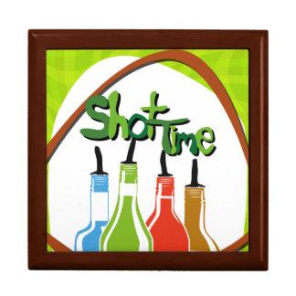 Illustration Alcohol bottles at a bar Gift Box