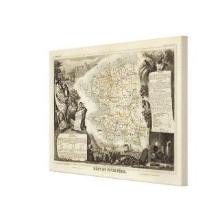 Illustration Atlas Maps Canvas Print