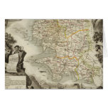Illustration Atlas Maps Greeting Card