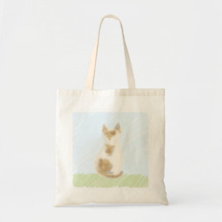 Illustration bag of tortoiseshell cat