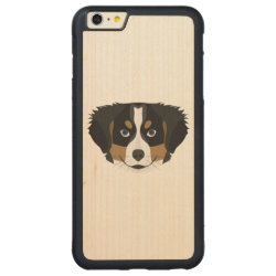 Carved iPhone 6 Plus Slim Wood Case with Bernese Mountain Dog Phone Cases design