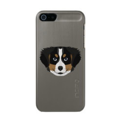 Incipio Feather Shine iPhone 5/5s Case with Bernese Mountain Dog Phone Cases design