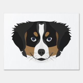 Illustration Bernese Mountain Dog Sign