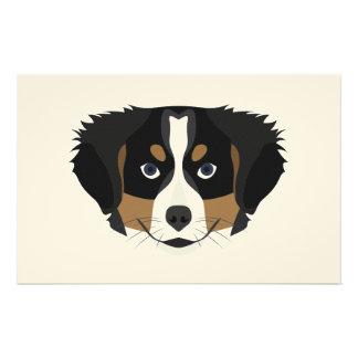 Illustration Bernese Mountain Dog Stationery