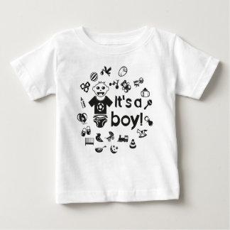 Illustration black IT'S A BOY! Baby T-Shirt
