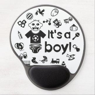 Illustration black IT'S A BOY! Gel Mouse Pad