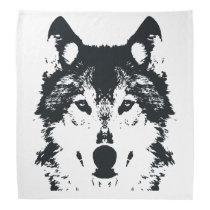 Illustration Black Wolf Bandana