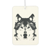 Illustration Black Wolf Car Air Freshener