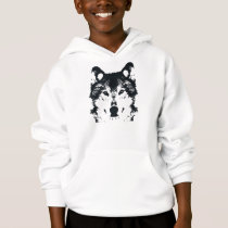Illustration Black Wolf Hoodie