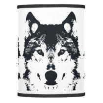 Illustration Black Wolf Lamp Shade