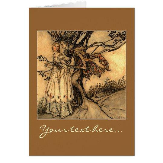 Illustration by Arthur Rackham Card