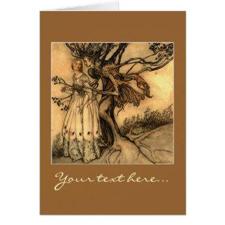 Illustration by Arthur Rackham Greeting Card