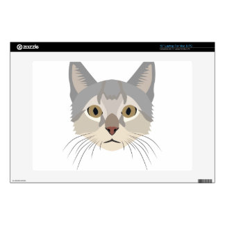 "Illustration Cat Face 13"" Laptop Skin"