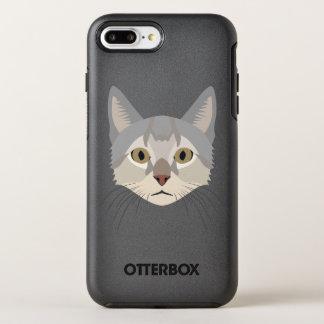 Illustration Cat Face OtterBox Symmetry iPhone 7 Plus Case