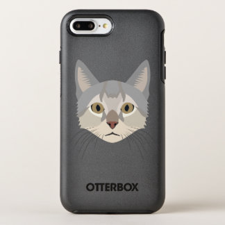 Illustration Cat Face OtterBox Symmetry iPhone 8 Plus/7 Plus Case