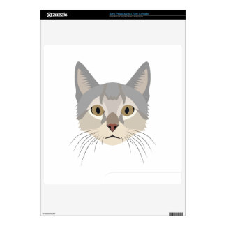 Illustration Cat Face PS3 Slim Skin