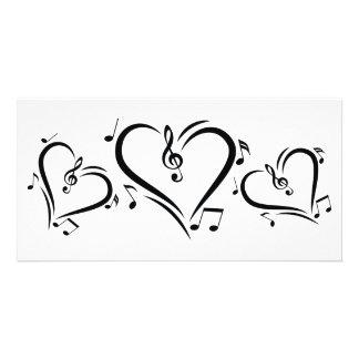 Illustration Clef Love Music Card