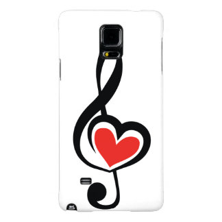 Illustration Clef Love Music Galaxy Note 4 Case