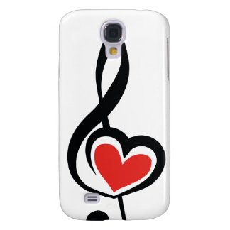Illustration Clef Love Music Galaxy S4 Cover