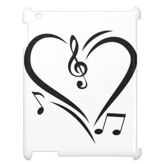 Illustration Clef Love Music iPad Case