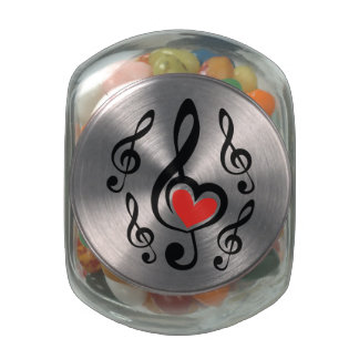 Illustration Clef Love Music Jelly Belly Candy Jar