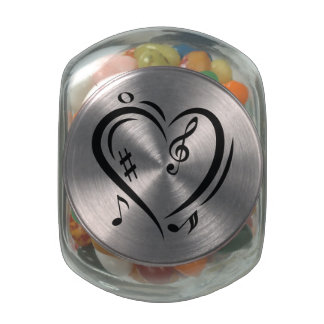 Illustration Clef Love Music Jelly Belly Candy Jars