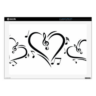 Illustration Clef Love Music Laptop Decals