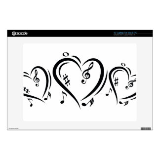 Illustration Clef Love Music Laptop Skin