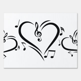 Illustration Clef Love Music Lawn Sign