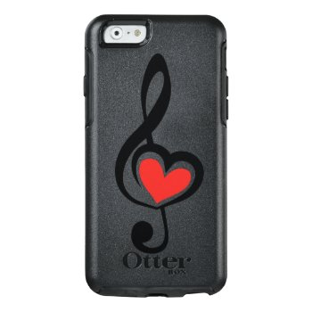 Illustration Clef Love Music Otterbox Iphone 6/6s Case by GreenOptix at Zazzle