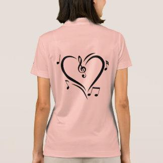 Illustration Clef Love Music Polo Shirt
