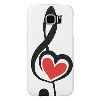 Illustration Clef Love Music Samsung Galaxy S6 Case