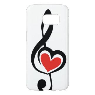 Illustration Clef Love Music Samsung Galaxy S7 Case