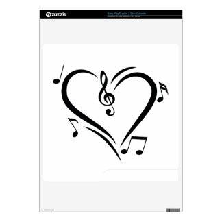 Illustration Clef Love Music Skins For PS3 Slim
