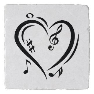 Illustration Clef Love Music Trivet