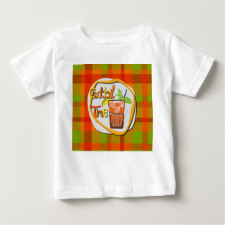 """Illustration Cocktail with fruit """"Cocktail Time"""" Baby T-Shirt"""