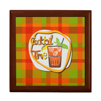 """Illustration Cocktail with fruit """"Cocktail Time"""" Gift Box"""