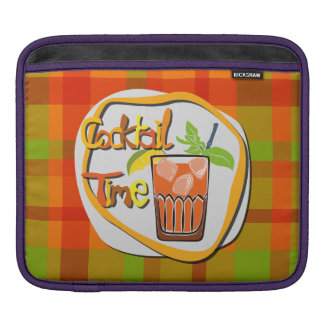 """Illustration Cocktail with fruit """"Cocktail Time"""" iPad Sleeve"""