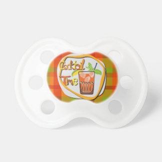 "Illustration Cocktail with fruit ""Cocktail Time"" Pacifier"